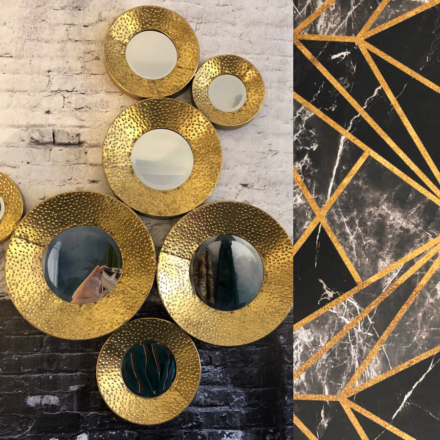 Olympia Gold Circles Mirror