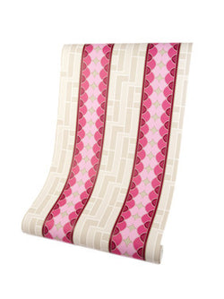Dean Stripe Pink Luxury Wallpaper