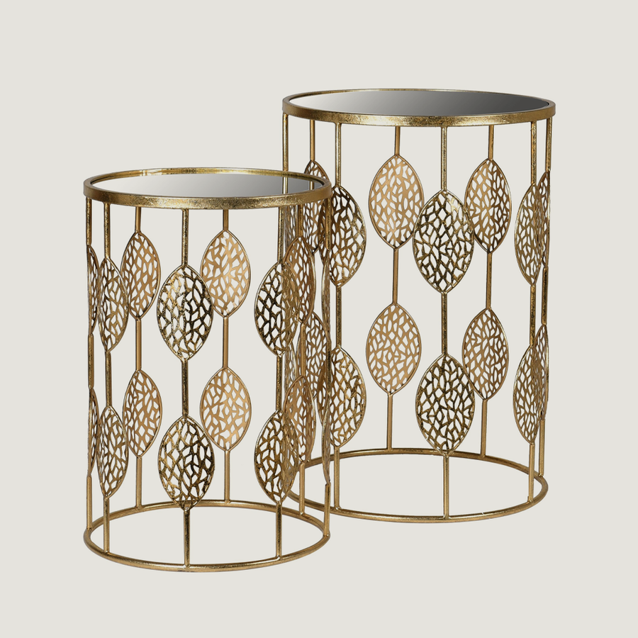 Fabienne Gold Leaf Tables
