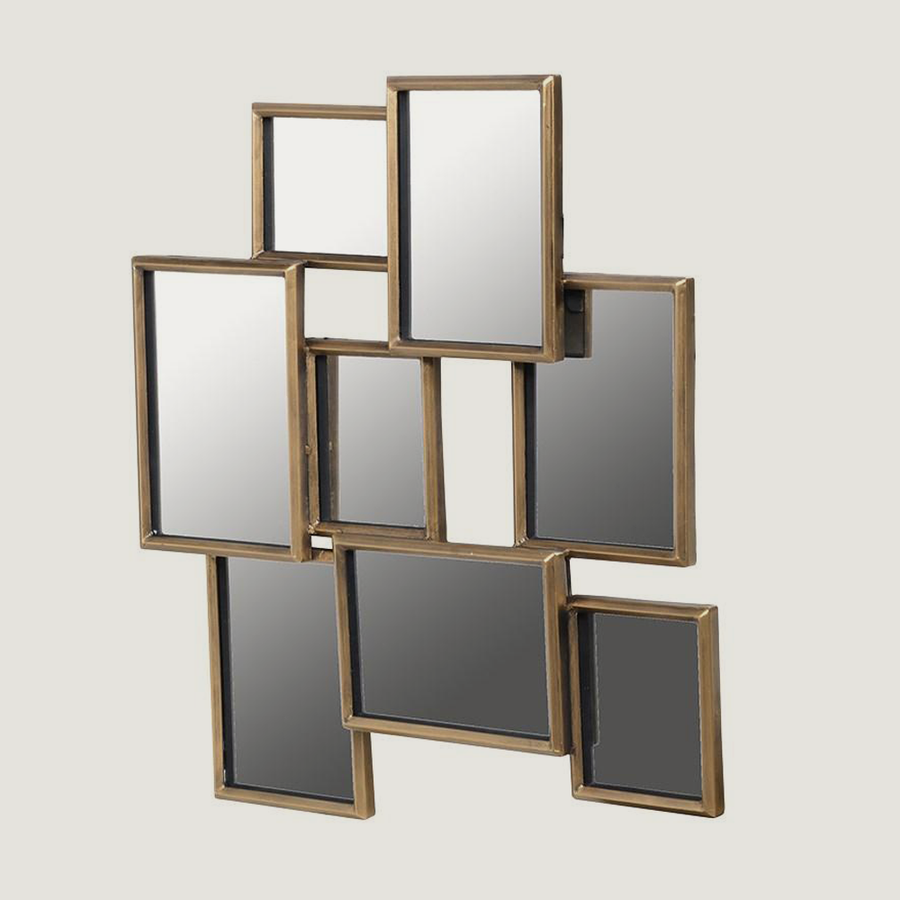 Bailey Abstract Square Mirror