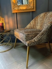 Gigi Leopard Shell Chair
