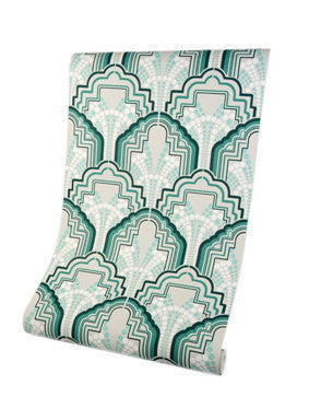 Gloria Mint Green Luxury Wallpaper