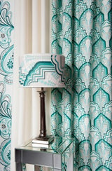Gloria Mint Green fabric roomset