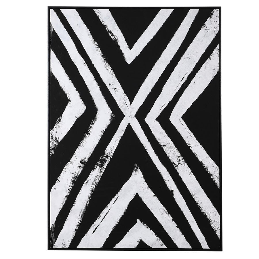 Doba Black White Abstract Canvas