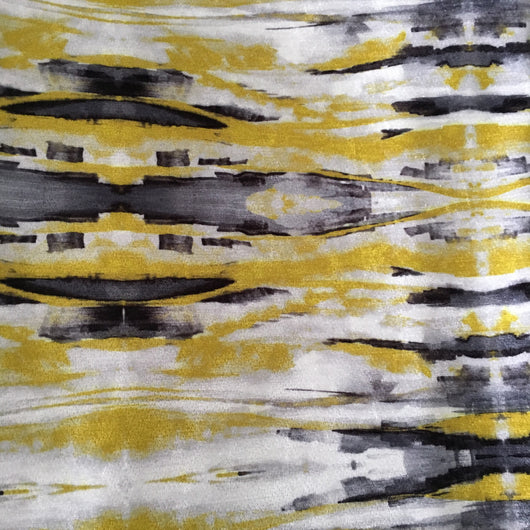 Sonic Yellow Velvet Fabric