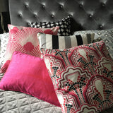 Gloria Luxury Berry Red Cushions