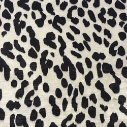 Kara Cream Faux Leopard Velvet Fabric