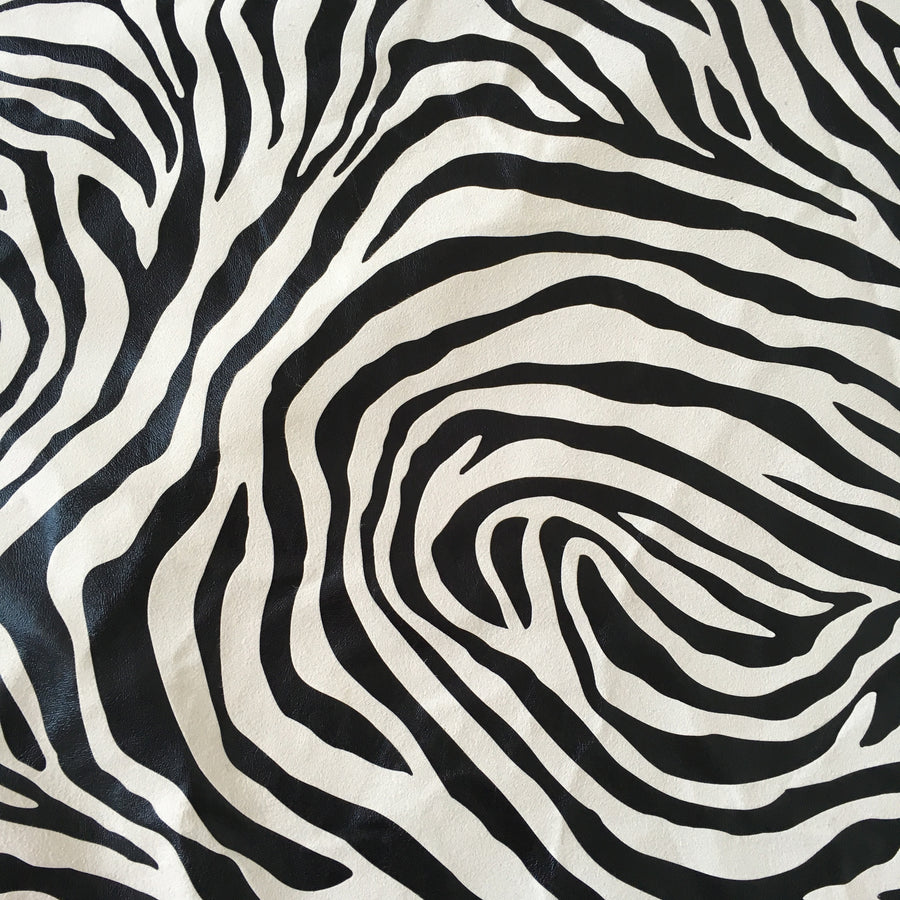 zebrano black white velvet fabric