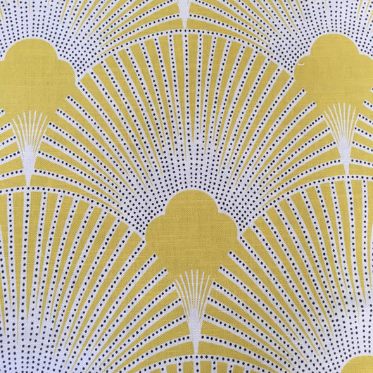 Deco Fabulous Yellow Art Deco Linen Fabric