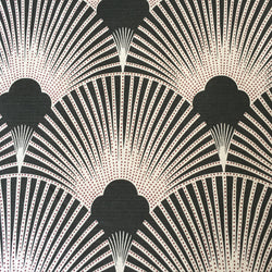 Deco Fabulous Black Art Deco Linen Fabric