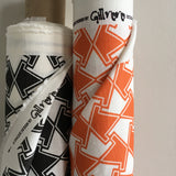 Topsy Turvy Orange Zest Linen Fabric