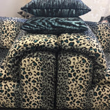 Cheetah Pop Smoke Velvet Fabric