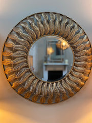 Paradise Gold Feather Mirror