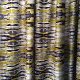 Sonic Yellow Velvet Fabric as Curtain