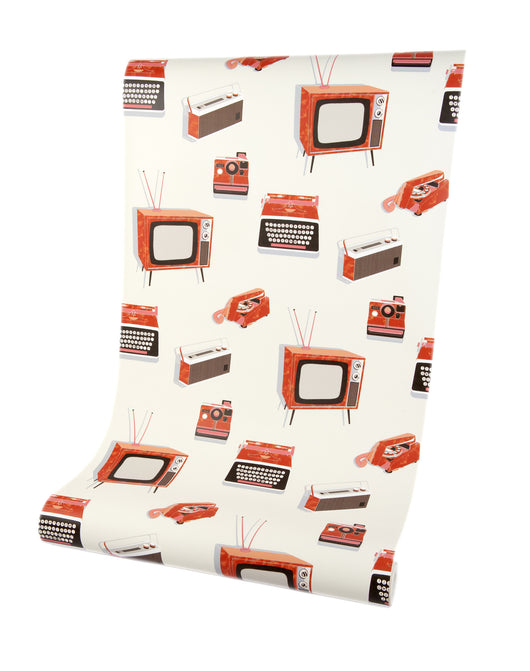 Call Me Baby Tangerine Orange Luxury Wallpaper