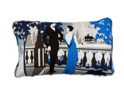 Promenade Skye Blue Luxury Cushion