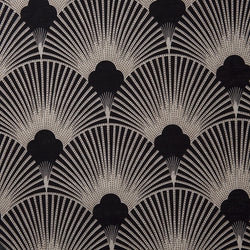 Deco Black Velvet Fabric