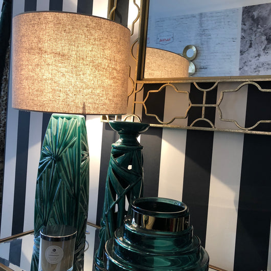 Verdi Palm Ceramic Lamp