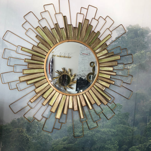 Misty Sunburst Mirror
