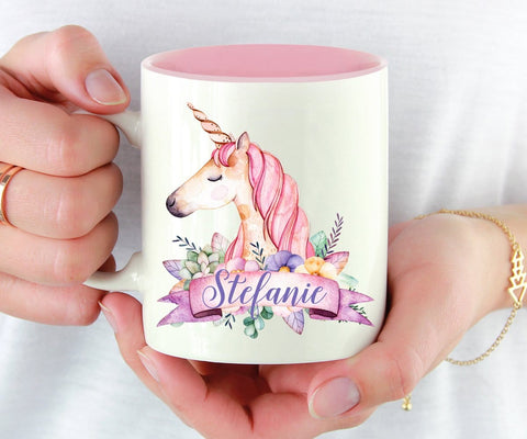 Personalized Unicorn Coffee Mug For Women