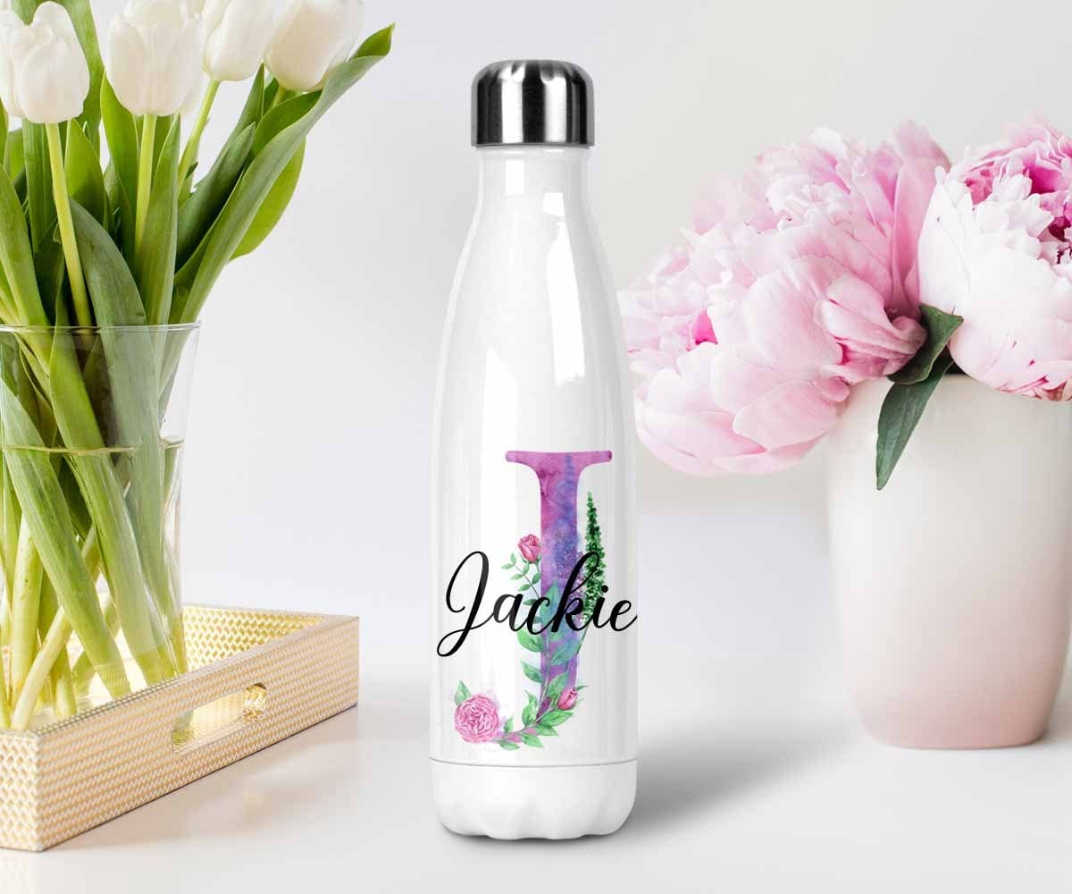 Monogrammed Stainless Steel Water Bottle Custom Gift