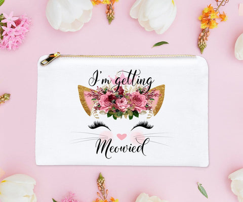 I'm Getting Meowied Cat Makeup Bag
