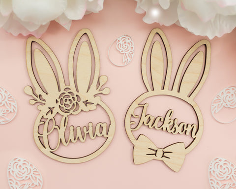 Personalized Bunny Easter Basket Tags