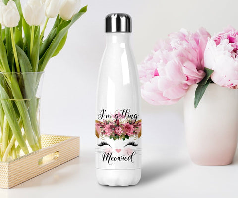 I'm getting meowied cat stainless steel water bottle with lid