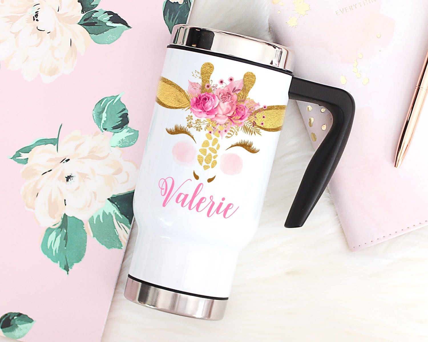 Llama Personalized Baby Girl Shower Gift Take Home Bodysuit