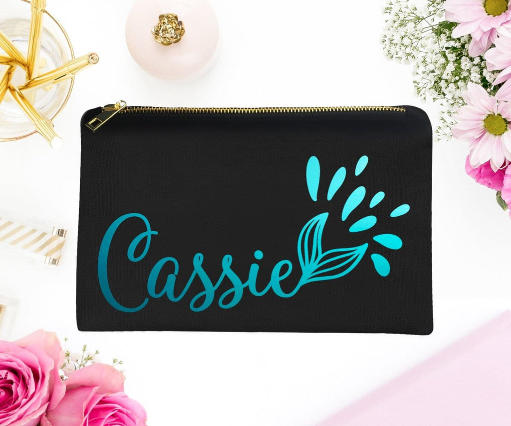 Personalized Name Mermaid Tail Makeup Bag