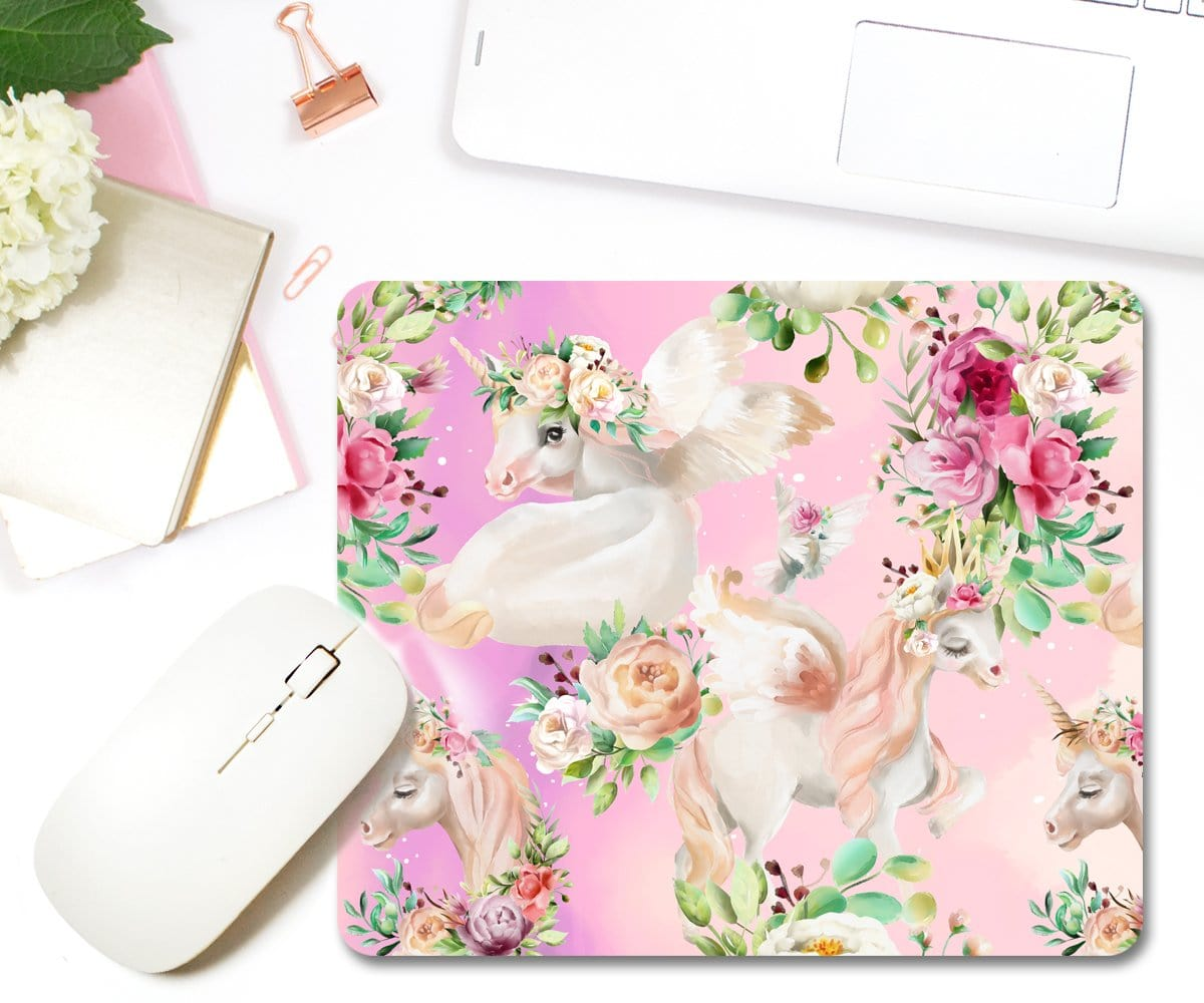 Unicorn Print Mouse Pad Unique Gift
