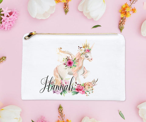 Unicorn Gifts For Women Personalized Makeup Bag