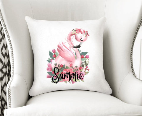 Flamingo Velvet Cushion Cover Personalized Nursery Decor