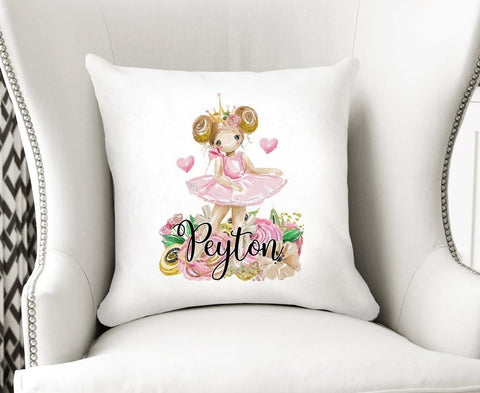 Ballerina Velvet Cushion Cover Personalized Nursery Decor