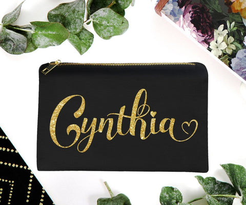Custom Travel Makeup Bag Personalized Gift For Bridesmaid