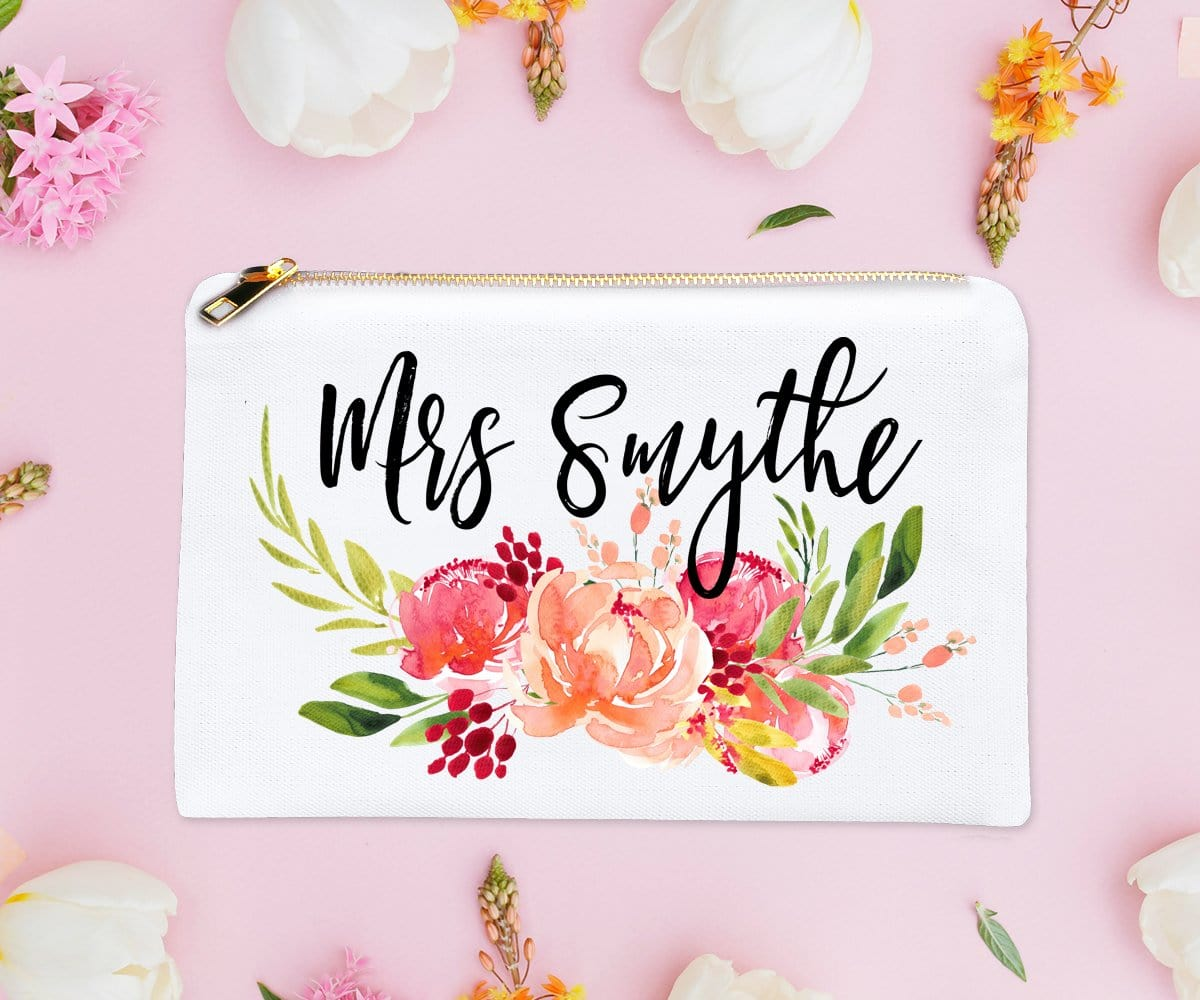 Personalized Mrs. Makeup Bag Bride To Be Gift