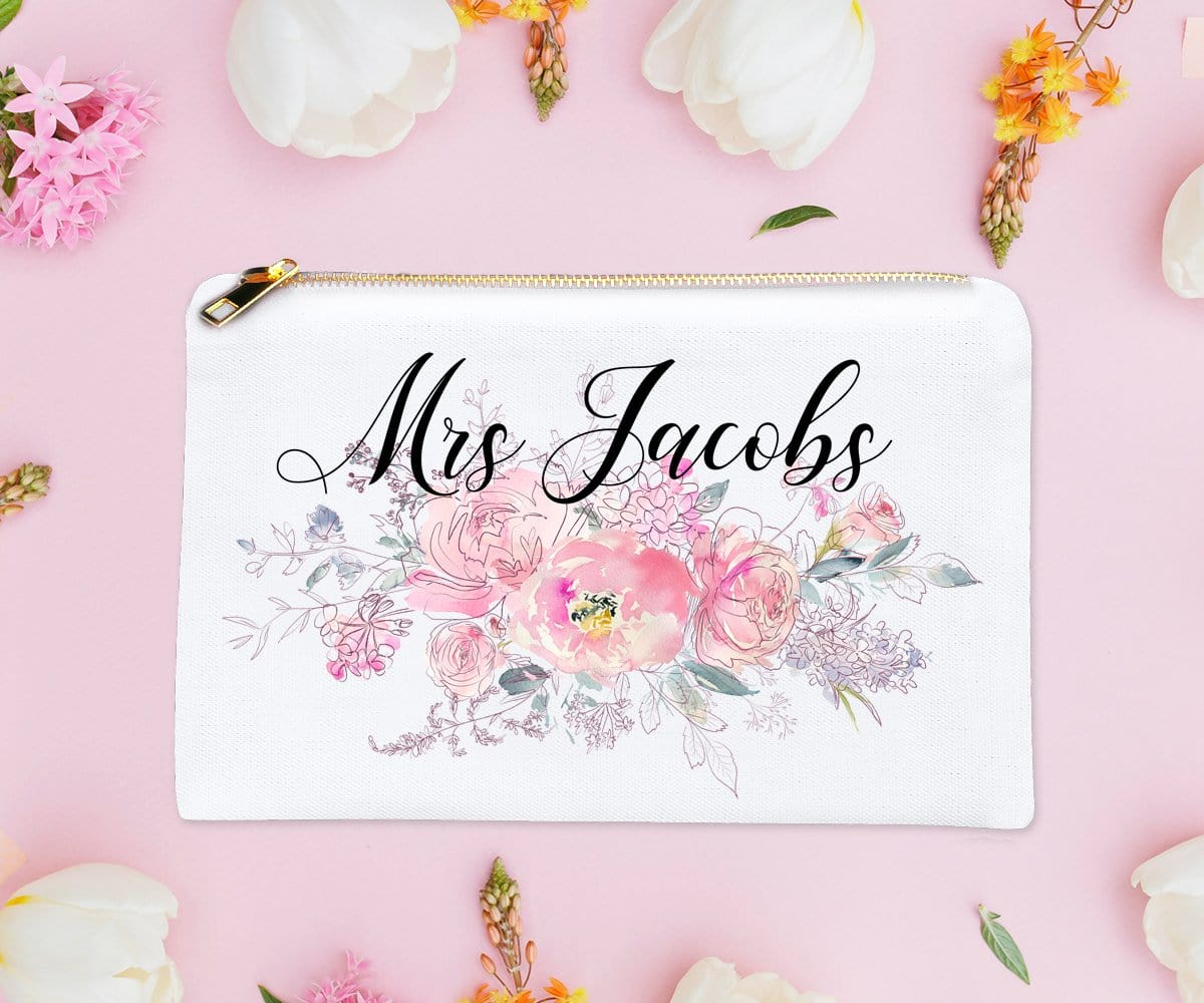 Bridal Shower Gift Future Mrs Personalized Makeup Bag