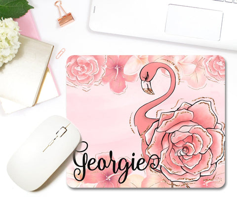 Flamingo Personalized Mouse Pad Cute Office Accessories