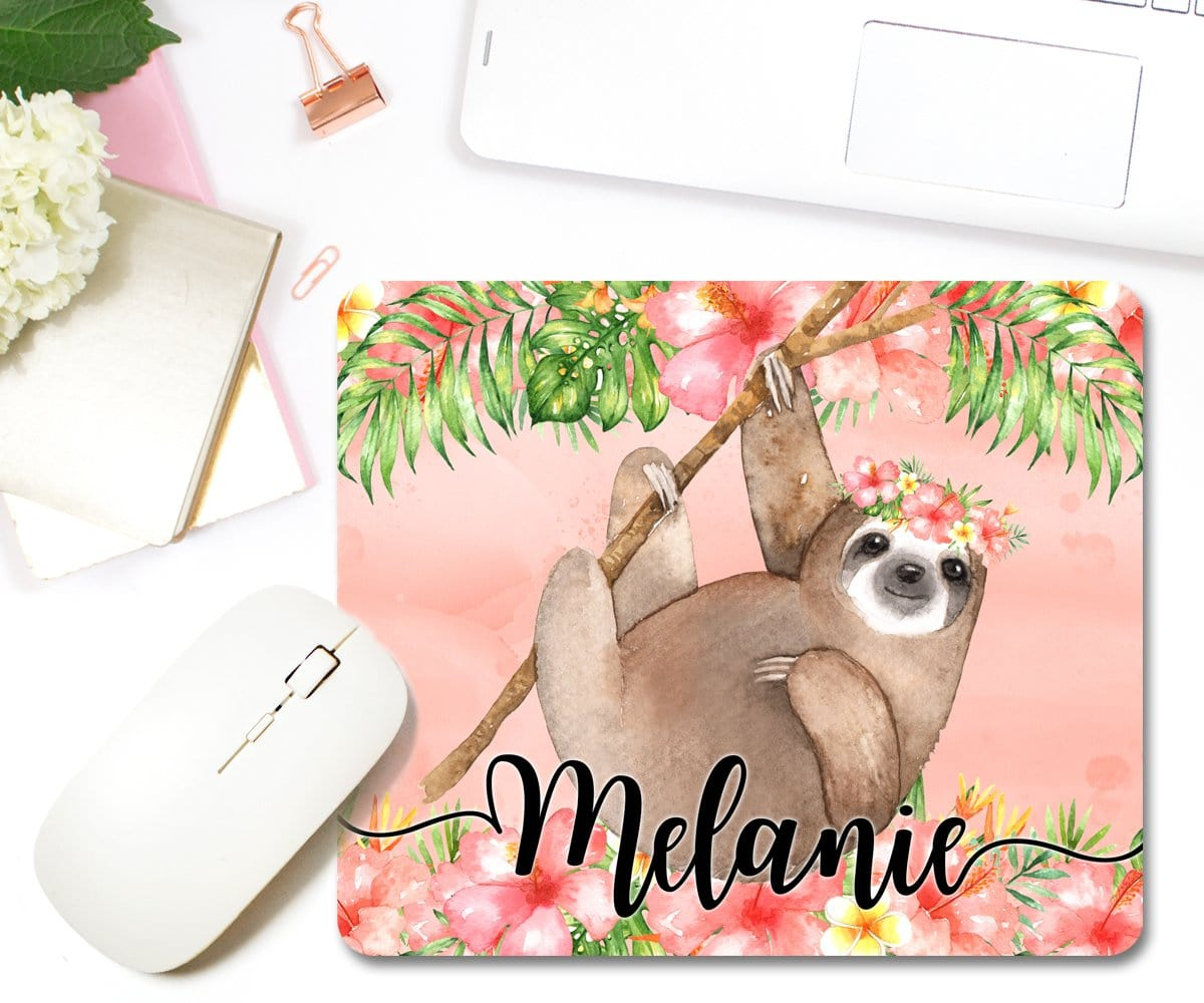 Personalized Sloth Mouse Pad