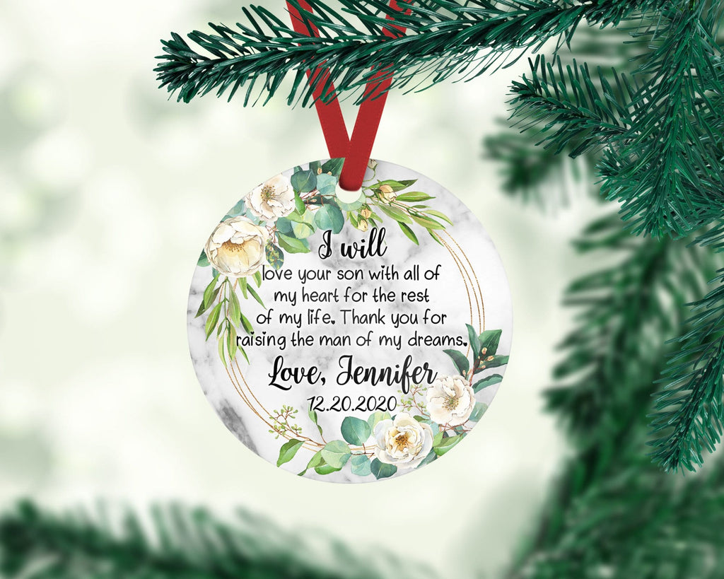 Mother of the Groom Personalized Christmas Ornament