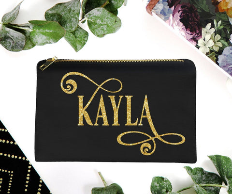 Personalized Monogram Makeup Bag Gift For Friend