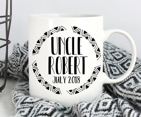 Personalized Uncle Pregnancy Reveal Mug
