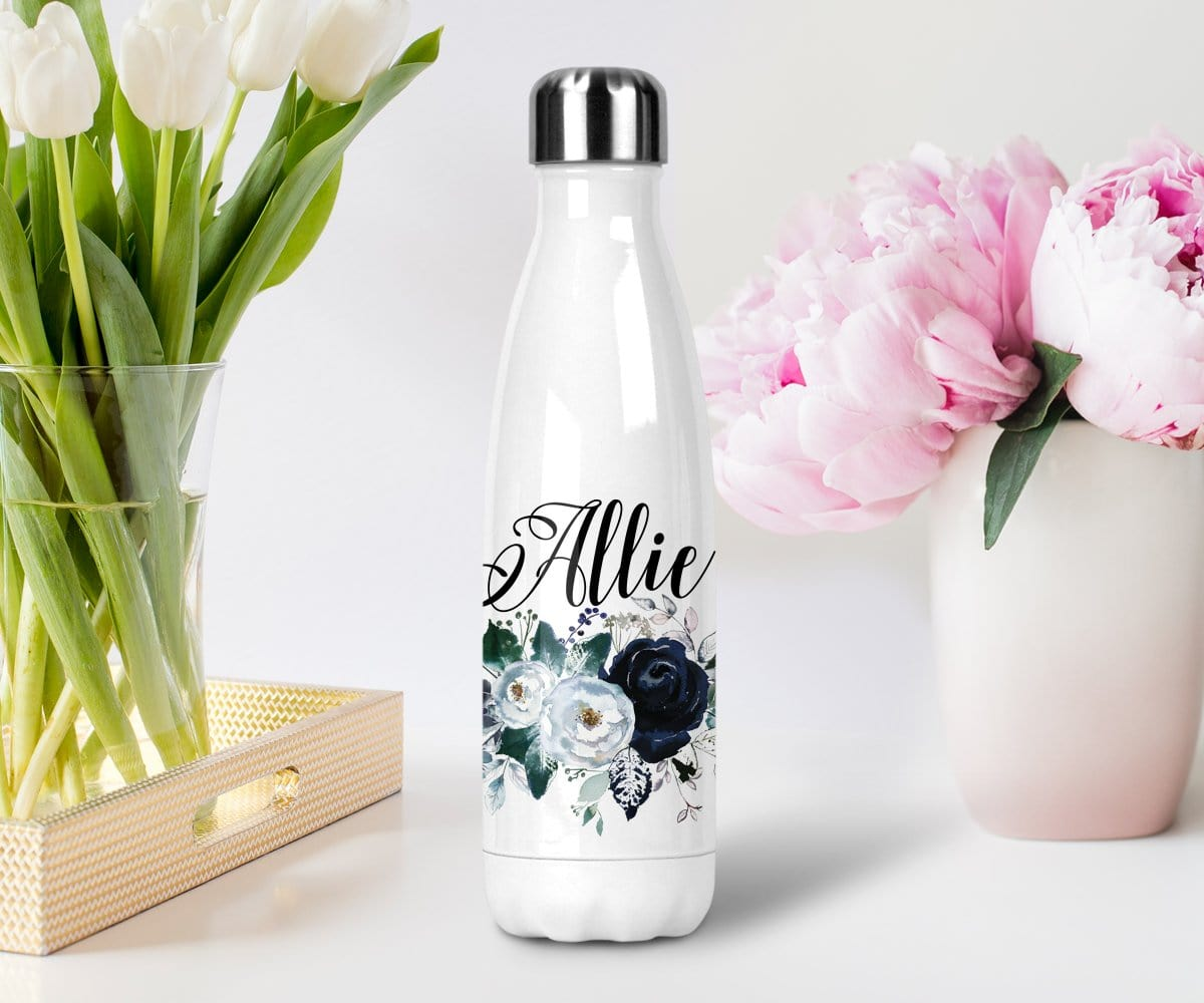 Custom Bridesmaid Gift For Winter Weddings Water Bottle