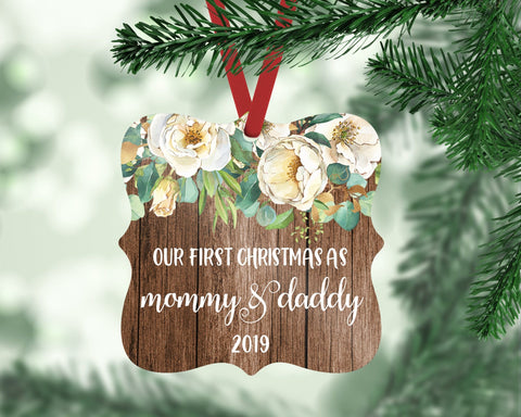 Our First Christmas As Mommy And Daddy Ornament