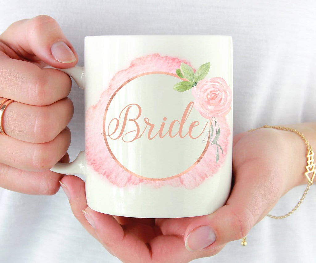 Pink Watercolour Bride Mug