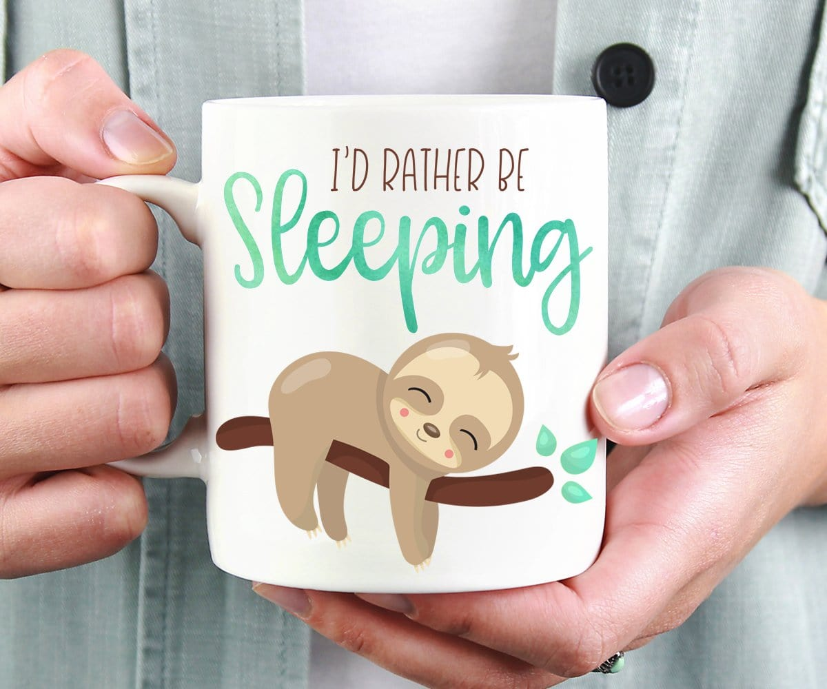 I'd Rather Be Sleeping Sloth Mug