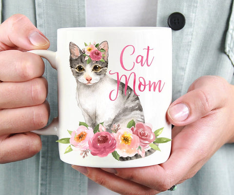 Cat Mom Coffee Mug
