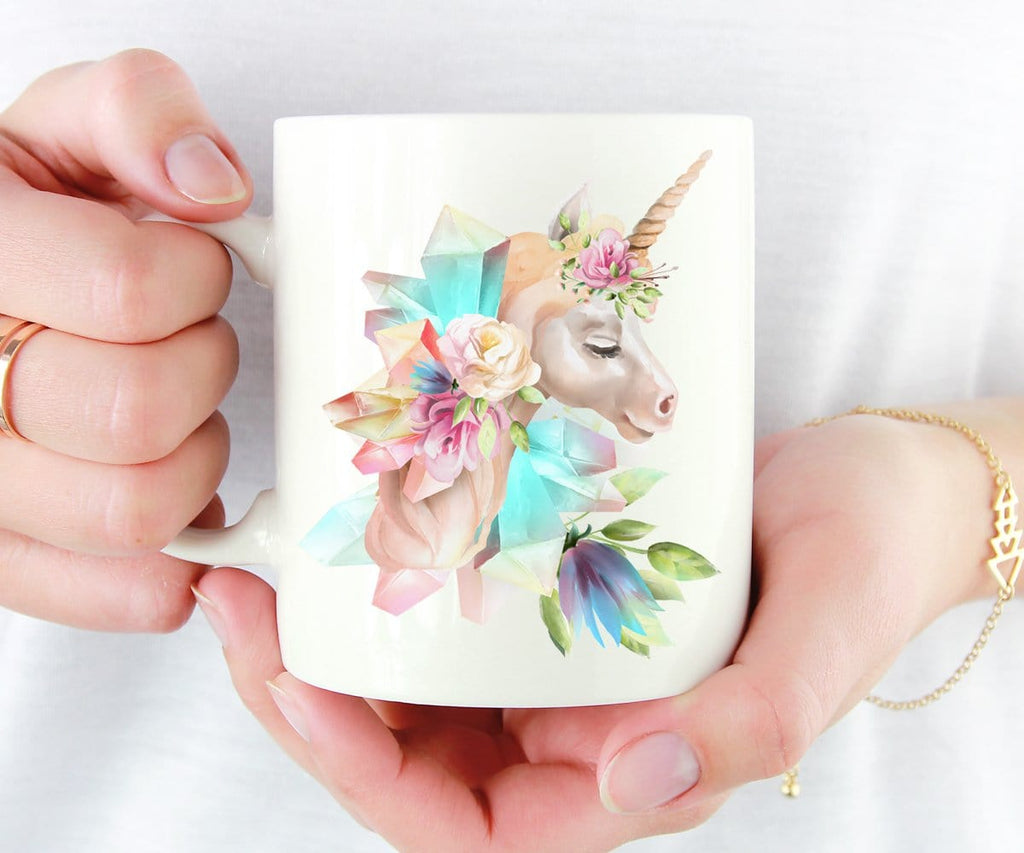 Crystals & Unicorn Coffee Mug