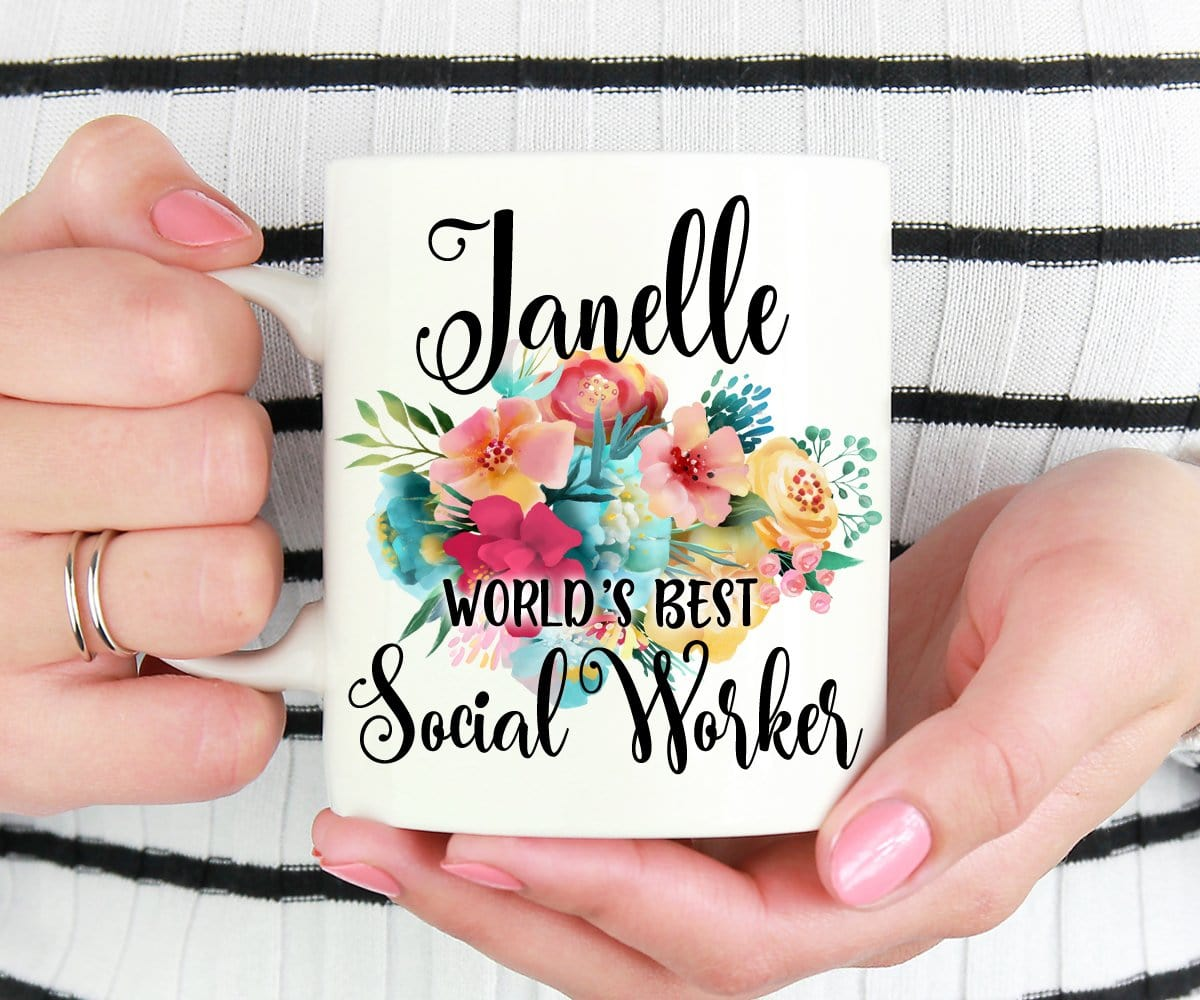 Personalized Social Worker Gift Coffee Mug