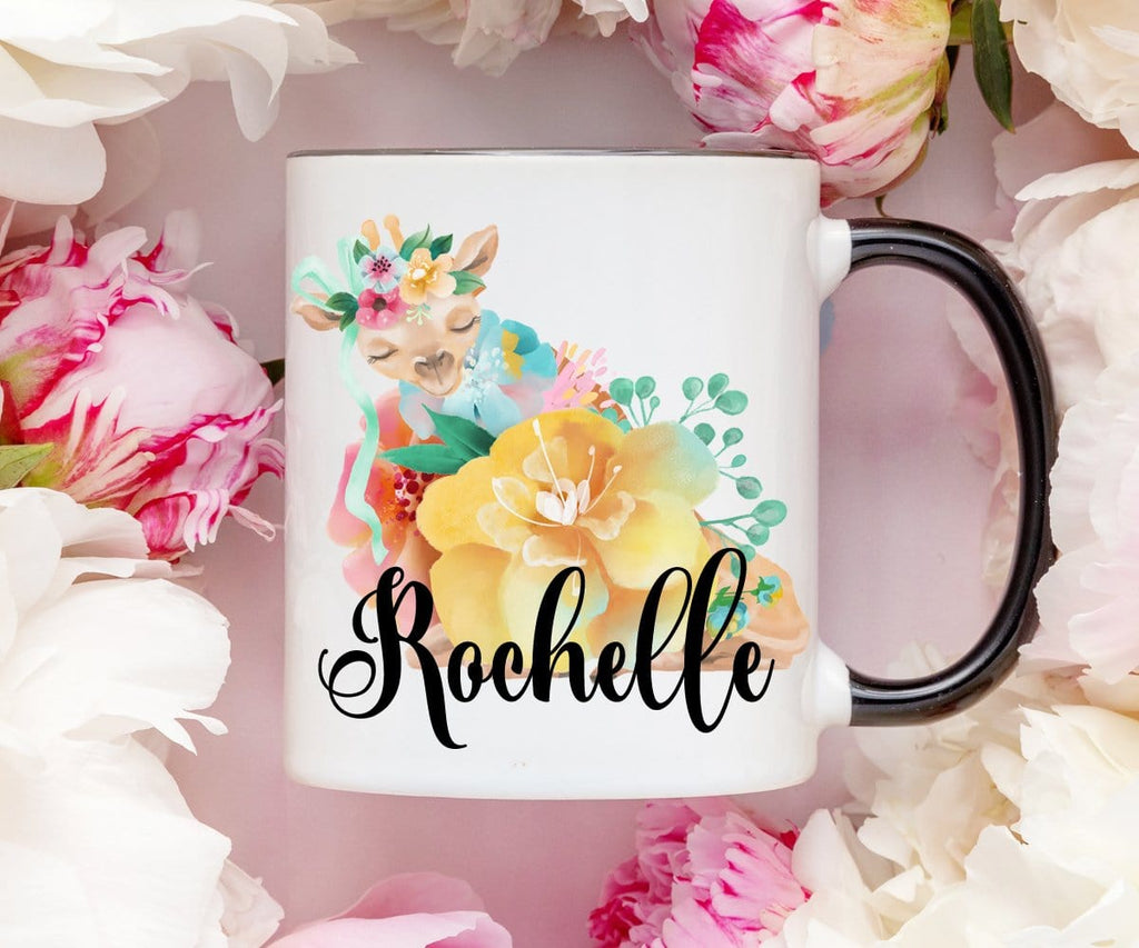 Giraffe Coffee Mug With Personalized Name